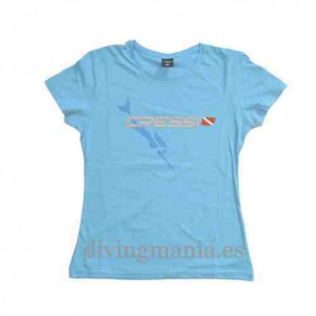 Outlet Cressi Team Blue Lady T-Shirt